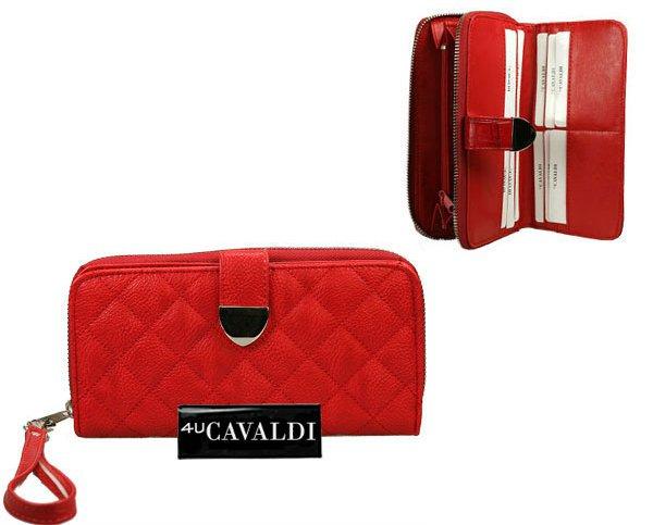 8efb9de6c5c7d Portfel damski pikowany CAVALDI-czerwony WaleriaSklep